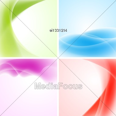 Abstract Waves Backgrounds. Vector Design Eps 10. Gradient Mesh Included Stock Photo