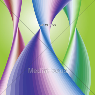 Abstract Wavy Background Vector Illustration. Stock Photo