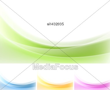 Abstract Wavy Backgrounds. Gradient Vector Mesh Stock Photo