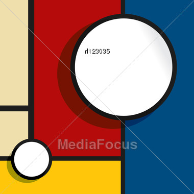 Abstract Web Design Bubble With Room For Text Or Photography Stock Photo