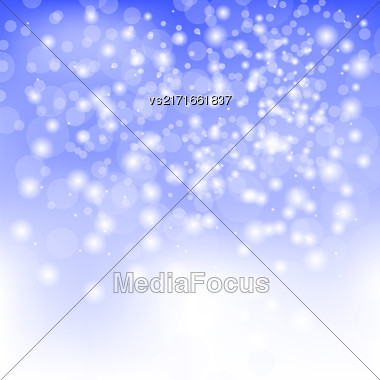 Abstract Winter Snow Background. Abstract Winter Pattern. Blue Lights Background Stock Photo
