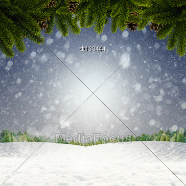 Abstract Winter And Xmas Backgrounds For Your Design Stock Photo