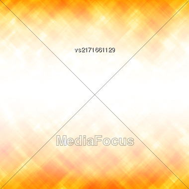 Abstract Yellow Background. Square Mosaic Pattern. Template Design For Banner, Poster, Leaflet Stock Photo