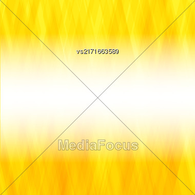 Abstract Yellow Background. Square Mosaic Pattern. Template Design For Banner, Poster Stock Photo