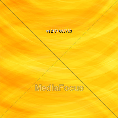 Abstract Yellow Background. Wave Pattern For Your Design Stock Photo