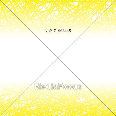 Abstract Yellow Line Background. Grunge Yellow Line Pattern Stock Photo