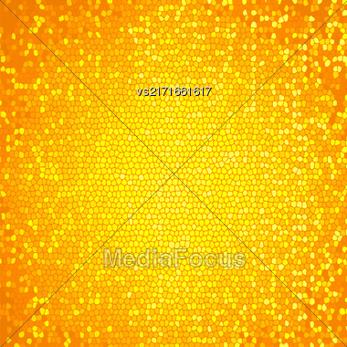 Abstract Yellow Mosaic Background. Abctract Yellow Mosaic Pattern Stock Photo