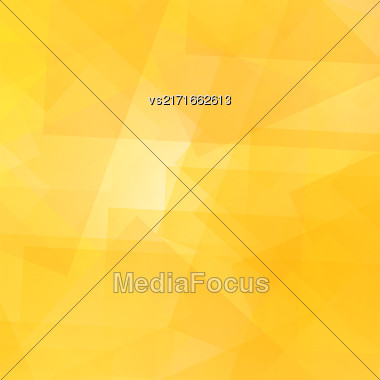 Abstract Yellow Pattern. Geometric Yellow Futuristic Background Stock Photo