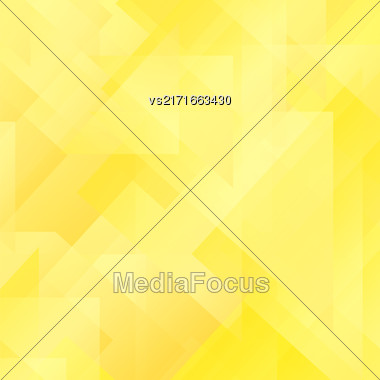 Abstract Yellow Pattern. Geometric Yellow Futuristic Background Stock Photo