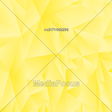 Abstract Yellow Polygonal Background. Abstract Yellow Polygonal Pattern Stock Photo