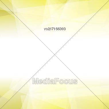 Abstract Yellow Polygonal Background. Yellow Geometric Pattern Stock Photo