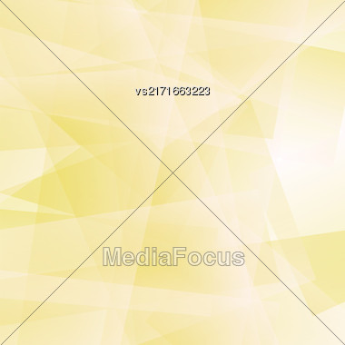 Abstract Yellow Polygonal Background. Yellow Geometric Pattern Stock Photo