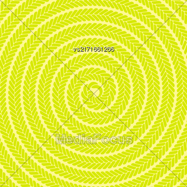 Abstract Yellow Spiral Pattern. Abstract Yellow Spiral Background Stock Photo