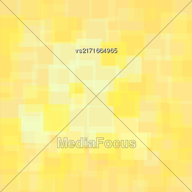 Abstract Yellow Squares Background. Abstract Yellow Squares Futuristic Pattern Stock Photo