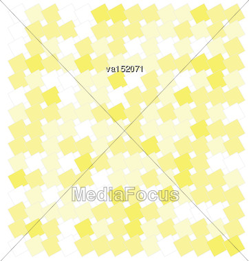 Abstract Yellow Squares Background Vector Illustration Stock Photo