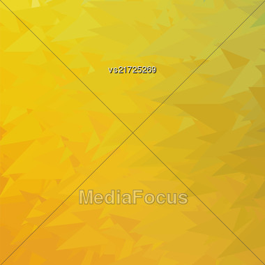 Abstract Yellow Triangle Background. Modern Mosaic Pattern. Template Design For Banner, Poster Stock Photo