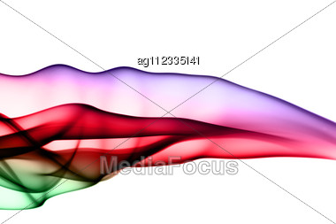 Abstraction: Colorful Fume Shape Stock Photo