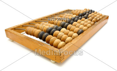 Accounting Abacus For Financial Calculations Lies Stock Photo