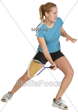 Active Tennis Player Stock Photo