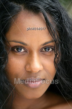 African Woman Head-shot Stock Photo