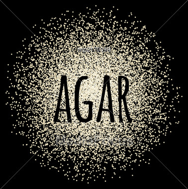 Agar Powder Isolated On A Black Background. Vector Illustration Stock Photo