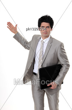 Aggressive Gesture Stock Photo