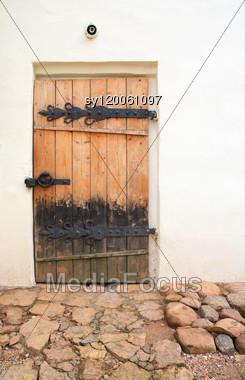 Aging Door Stock Photo