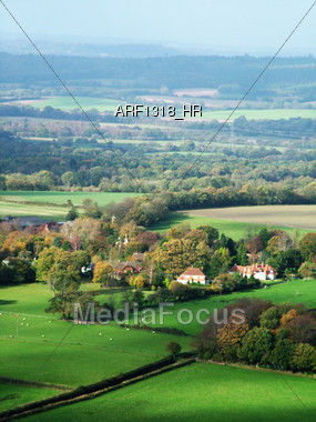 Agriculture - Harvest Crop Fields Stock Photo