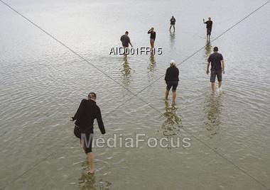 flooding exhausted sadness Stock Photo
