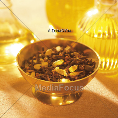 fragrance aromatherapy wellness yellow scented Stock Photo
