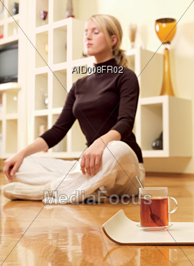 cup relax leisure Stock Photo