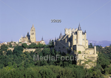 Alcazar, Segovia Stock Photo