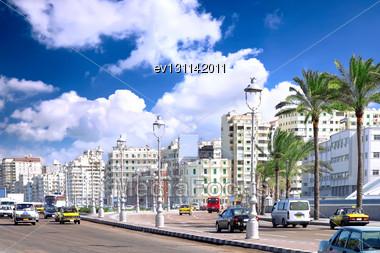 Alexandria City , Urban View, Egypt Stock Photo