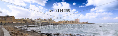 Alexandria, Seafront View . Egypt, Africa Stock Photo