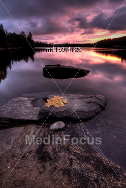 Algonquin Park Muskoka Ontario Fall Autumn Colors Stock Photo