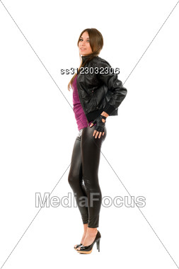 Alluring Young Brunette Woman. Stock Photo