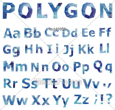 Alphabet. Polygonal Font Set. Geometrical Style. Vector Illustration Stock Photo