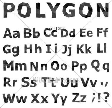 Alphabet. Polygonal Font Set. Geometrical Style. Vector Illustration Stock Photo