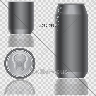 Aluminum Packaging For Beverages. Vector Illustration Stock Photo
