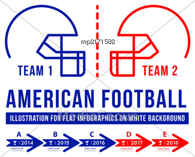American Football Is The History Of Meetings. Infographic Vector Illustration On White Background Stock Photo