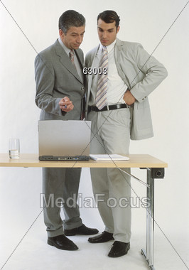 Analysing a Report Stock Photo