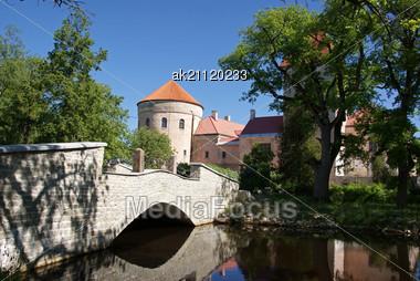 Ancient Castle In The East Of Estonia. 15 Century Stock Photo