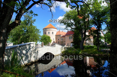 Ancient Castle In The East Of Estonia. 15 Century Stock Photo