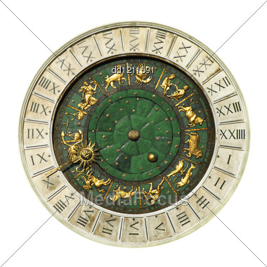 Ancient Venice Clock Toweri Stock Photo