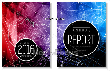 Annual Report Template. Brochure, Flyer Design, Book Cover Or Presentation. Vector Illustration Stock Photo