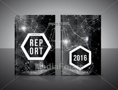 Annual Report Template. Brochure, Flyer Design, Book Cover Or Presentation. Vector Illustration Stock Photo