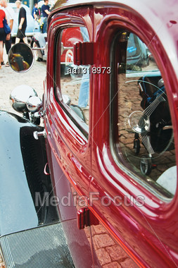 Antique Car Chic Red And In Excellent Condition Stock Photo