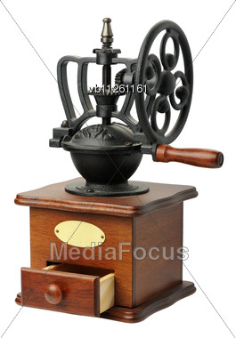 Antique Hand-mill For Coffee Stock Photo