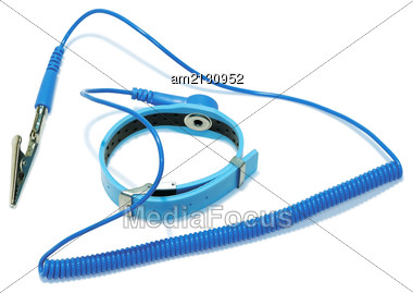 Antistatic Wrist Strap, Close-up Stock Photo