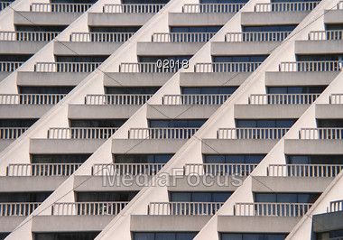 Stock Photo Apartment Building With Balconies Image